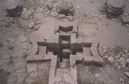 Image result for ancient baptismal font